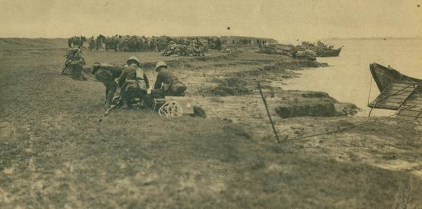 日本侵略军沿江进攻安庆